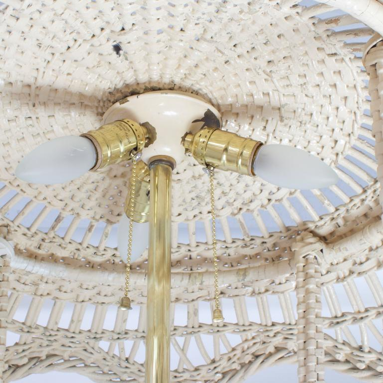 Classic antique wicker floor lamp with a unique feature at 1stdibs classic antique wicker floor lamp with a unique feature for sale 1 aloadofball Gallery