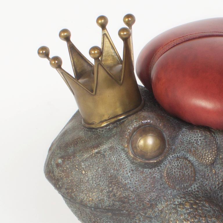 Vintage Cast Bronze Frog Toad Stool At 1stdibs