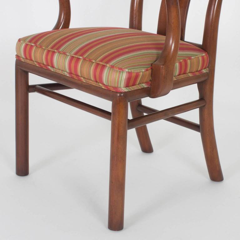 Vintage Set of 18 Modern Asian Queen Anne Dining Chairs ...