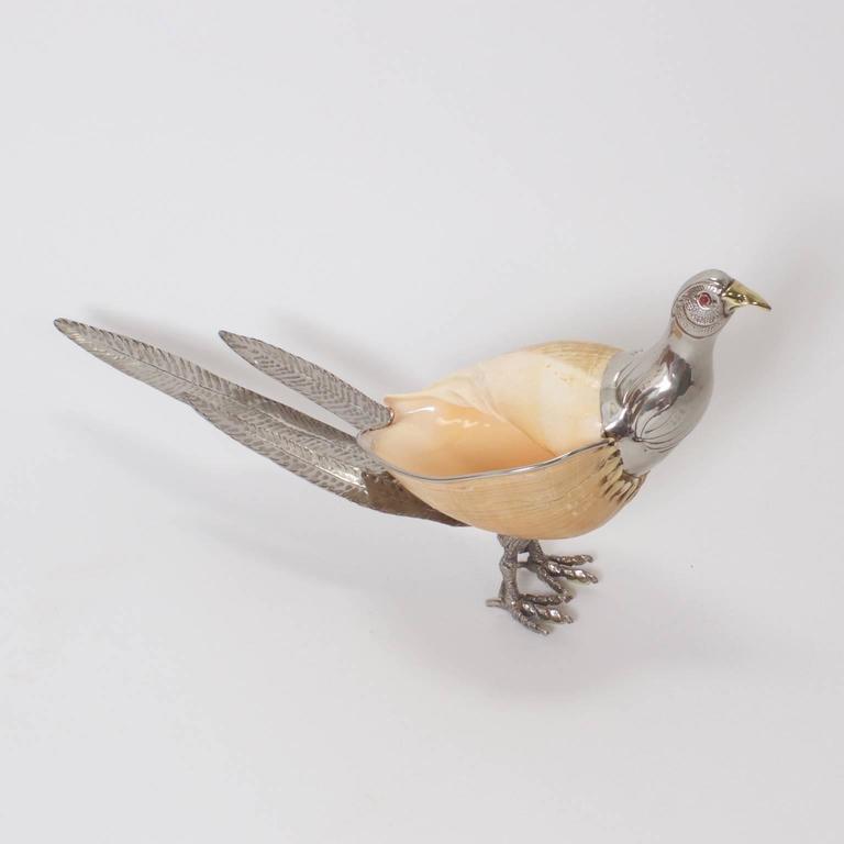 Mid-Century Binazzi Style Bird Sculpture In Excellent Condition For Sale In Palm Beach, FL