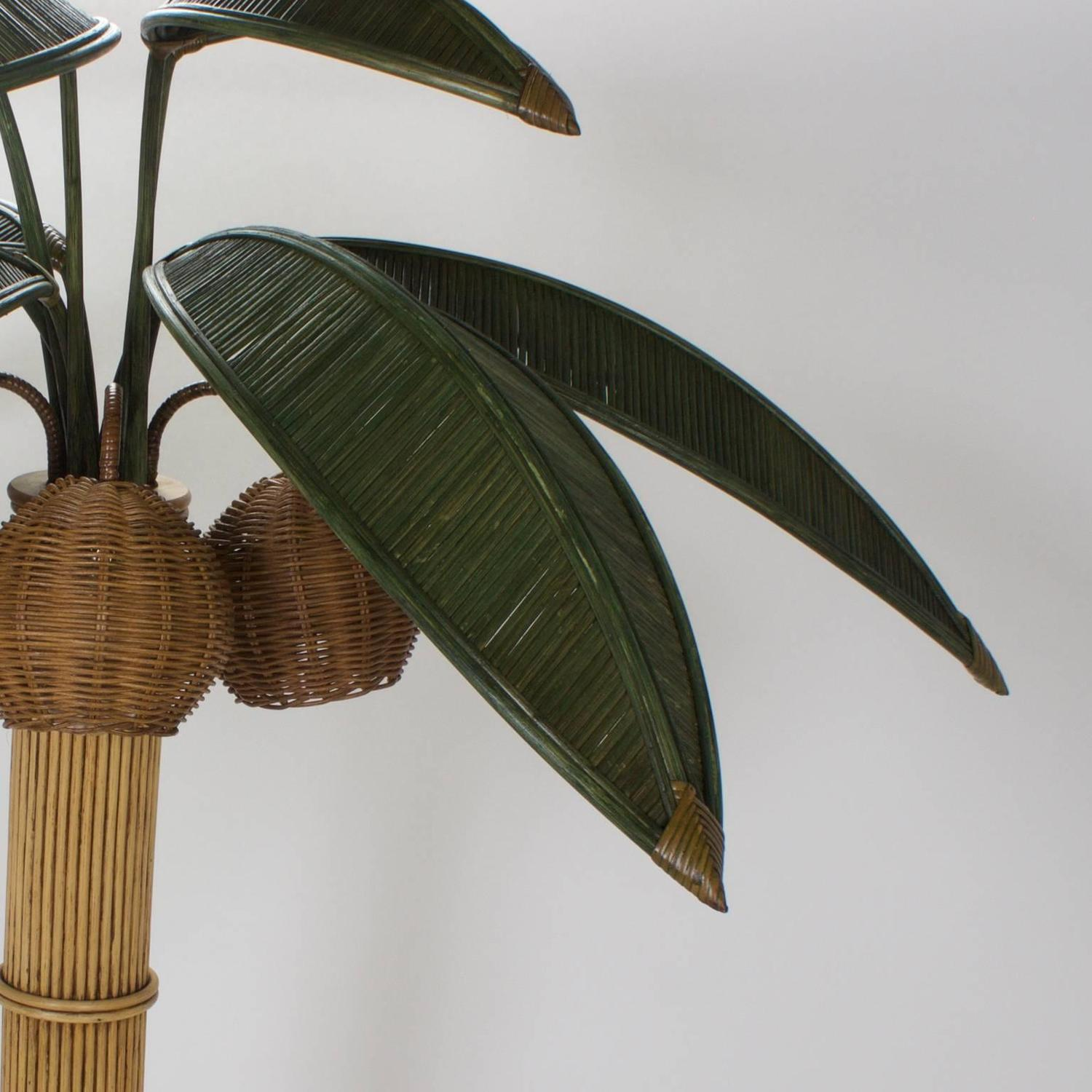 stylized reed palm tree floor lamp for sale at 1stdibs. Black Bedroom Furniture Sets. Home Design Ideas