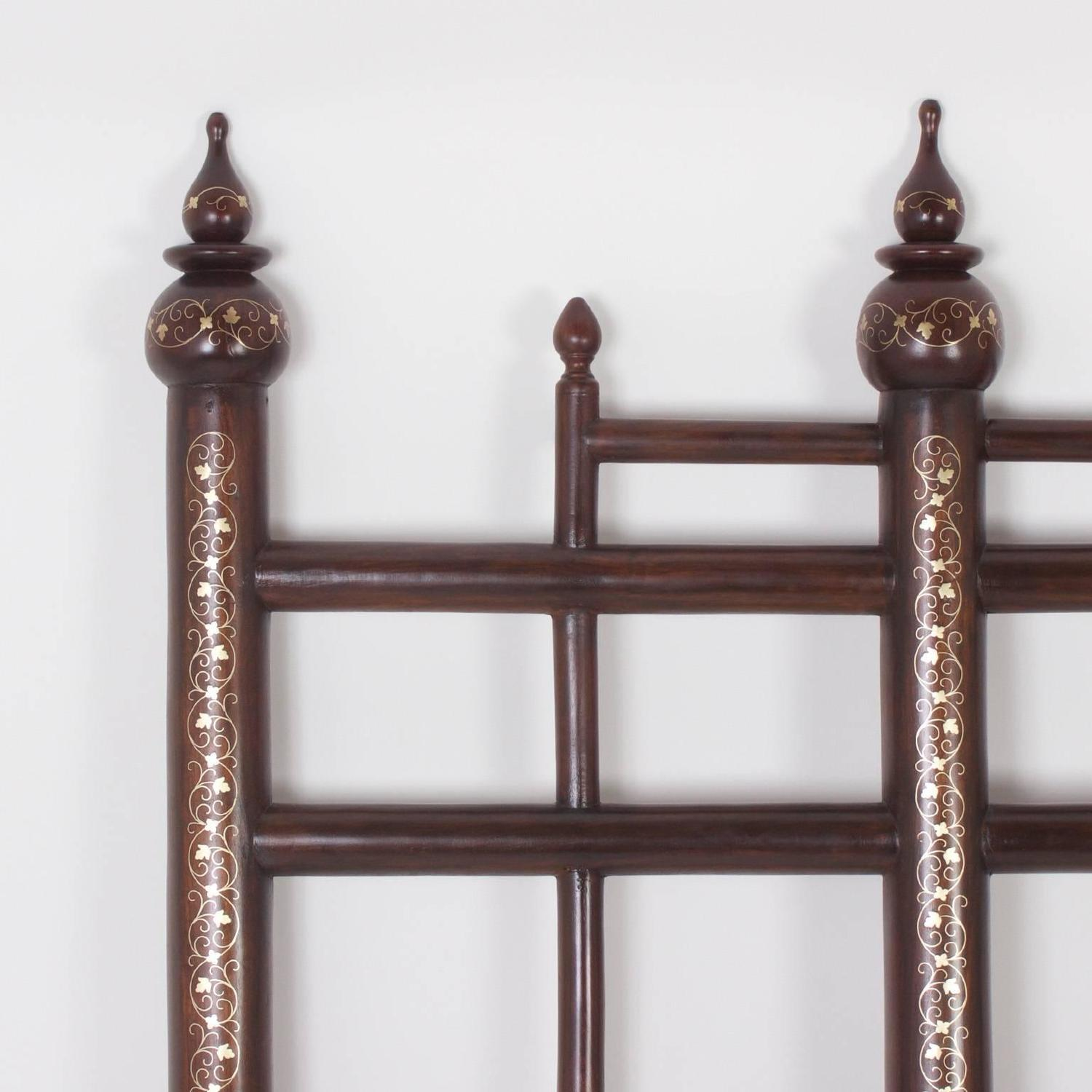 Vintage Queen Size Indian Headboard For Sale at 1stdibs