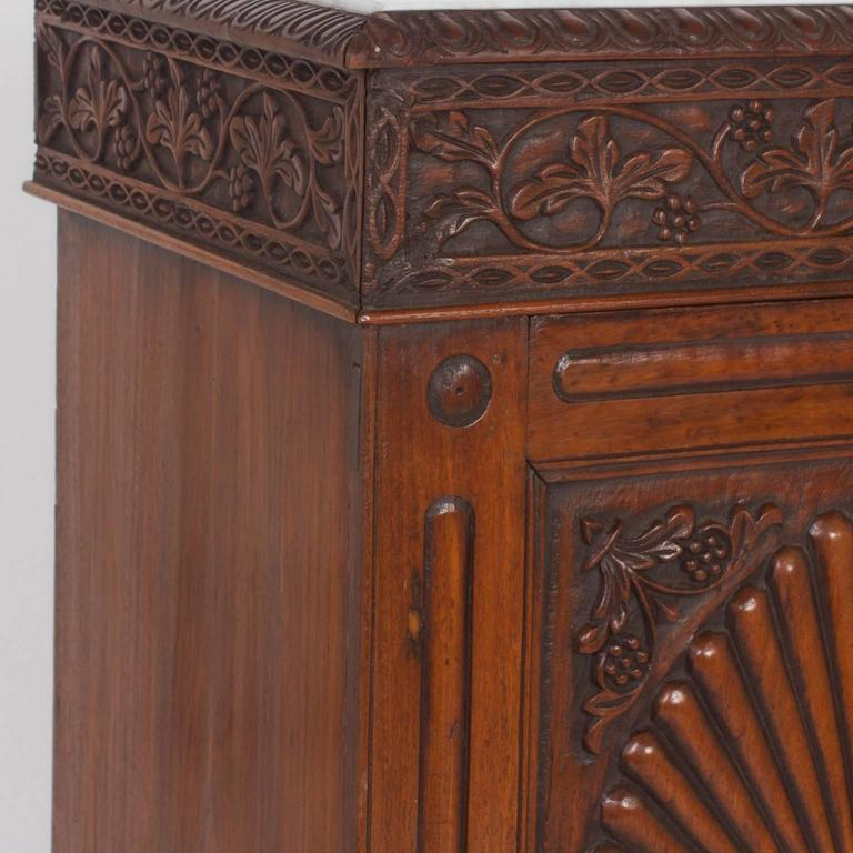Pair of Antique Anglo Indian Marble-Top Sideboards or Cabinets For Sale 1