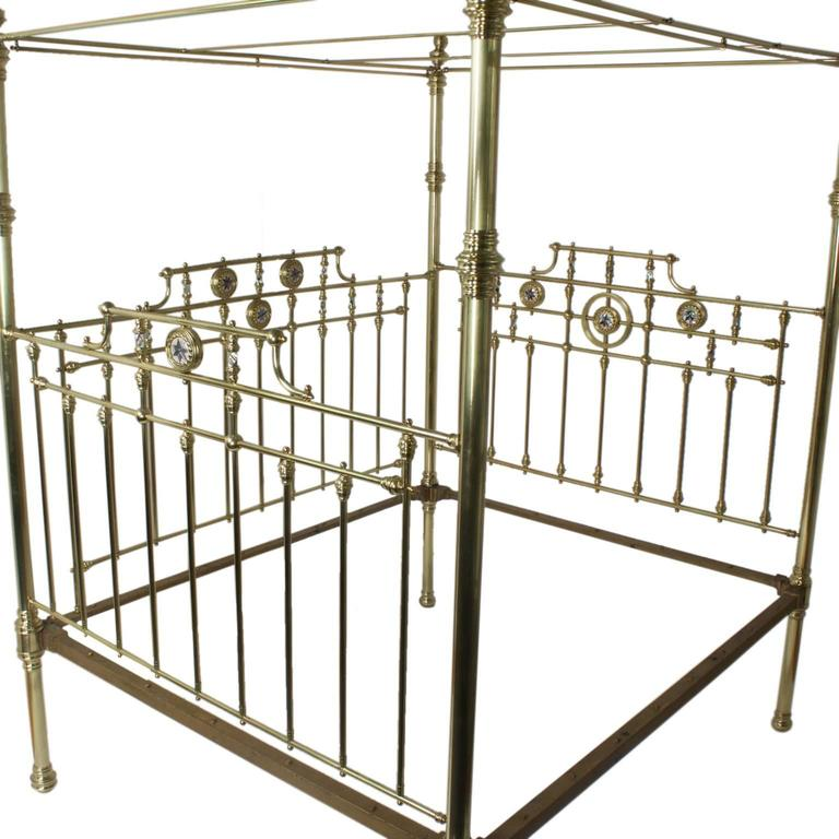 Antique Super Queen Size English Brass Bed at 1stdibs