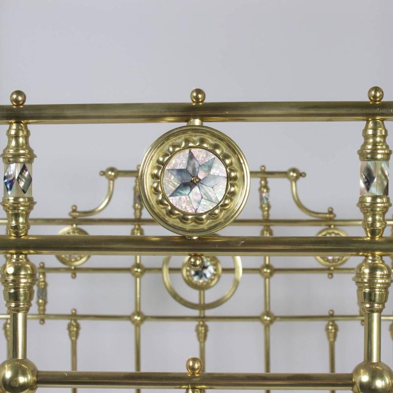 Antique Super Queen Size English Brass Bed For Sale At 1stdibs