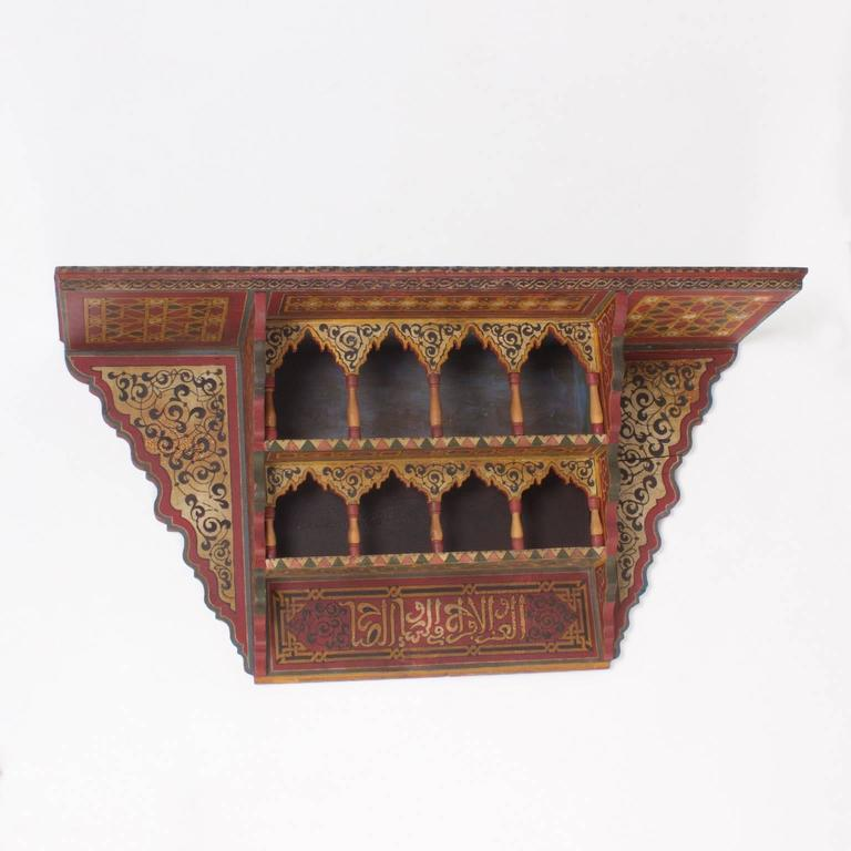 Early 20th Century Moroccan Wall Shelf at 1stdibs