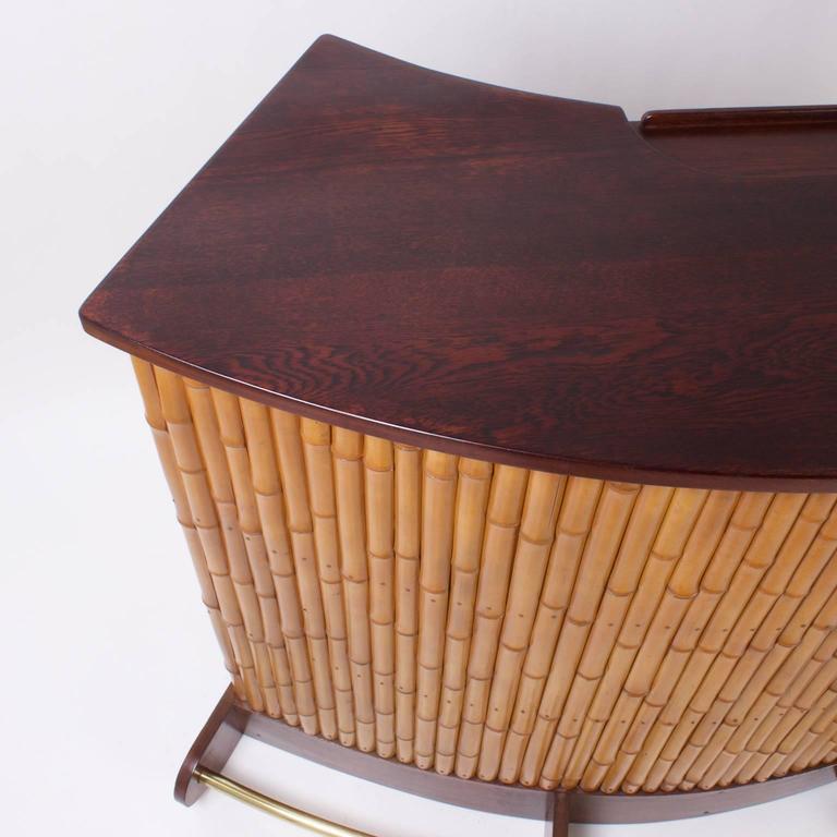 Mid Century Bamboo Tiki Bar For Sale At 1stdibs