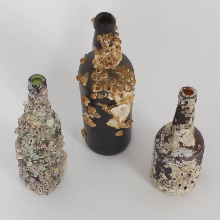 Intriguing Set Of Three Shipwreck Bottle Priced