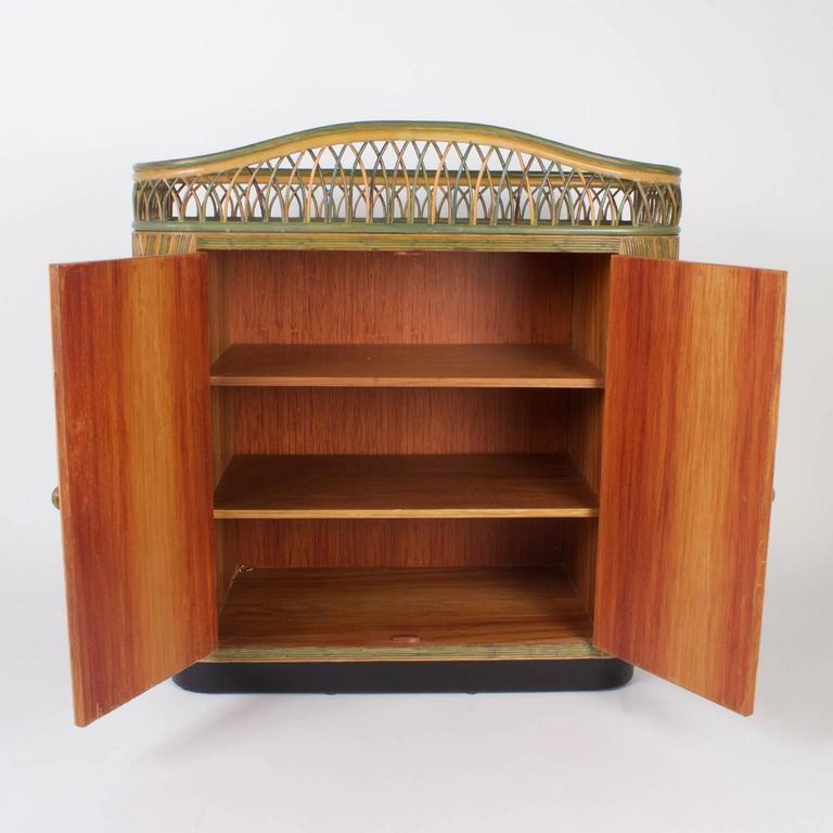 Art Deco Rattan Bar Or Server For Sale At 1stdibs