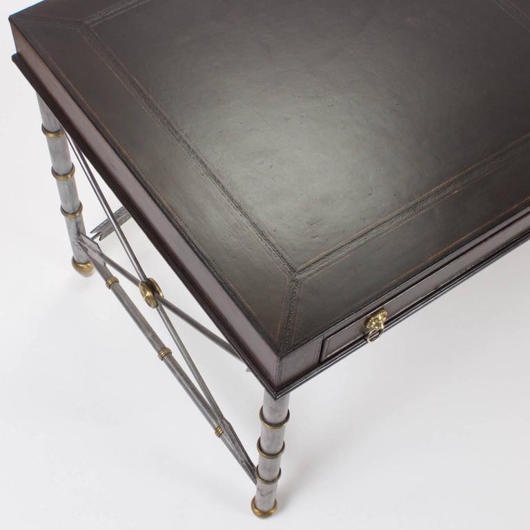 American Handsome Neoclassical Style Desk or Writing Table For Sale