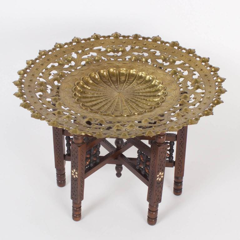 Hammered Coffee Table Tray: Moroccan Tray Or Coffee Table For Sale At 1stdibs