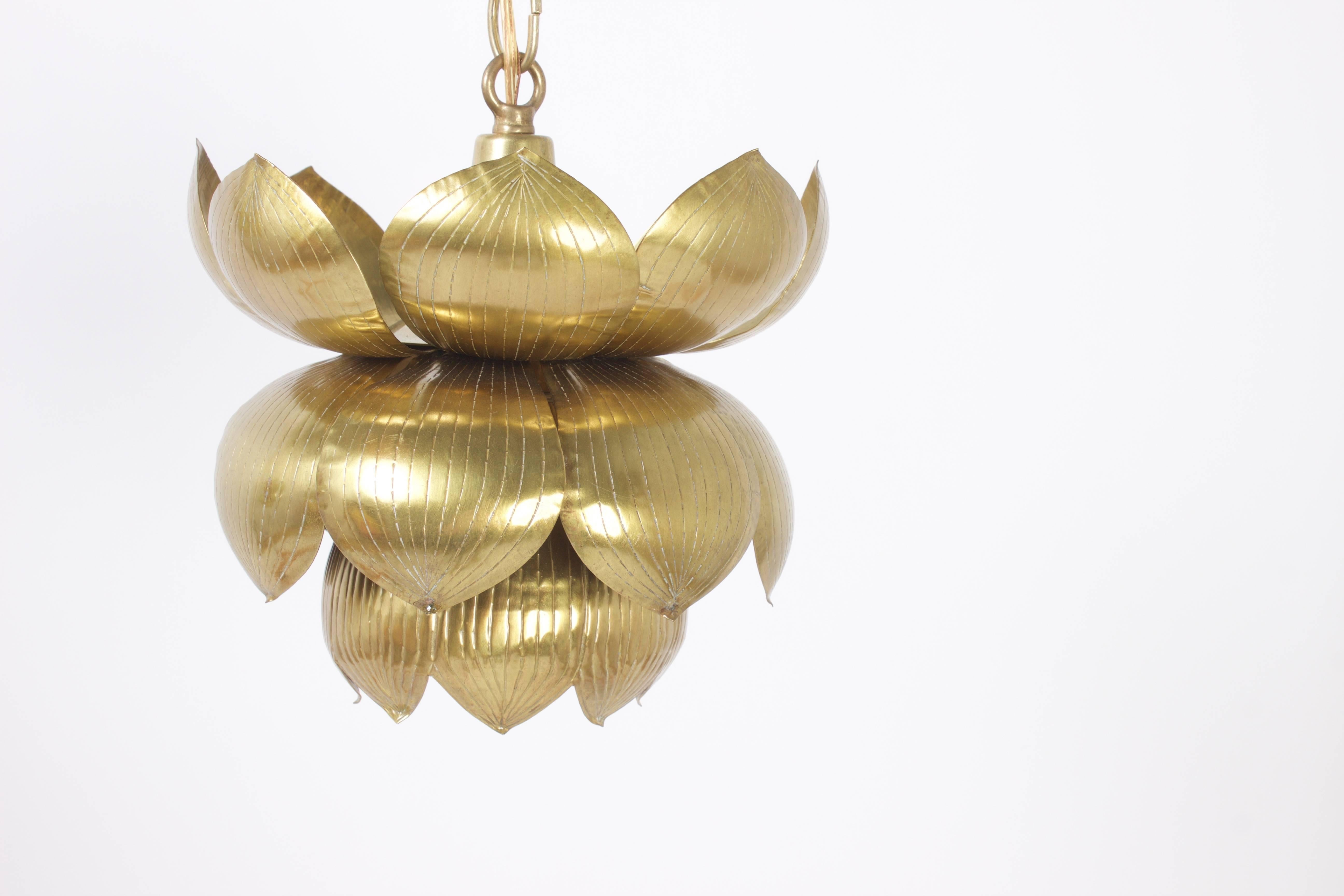 Mid century brass lotus pendants for sale at 1stdibs audiocablefo