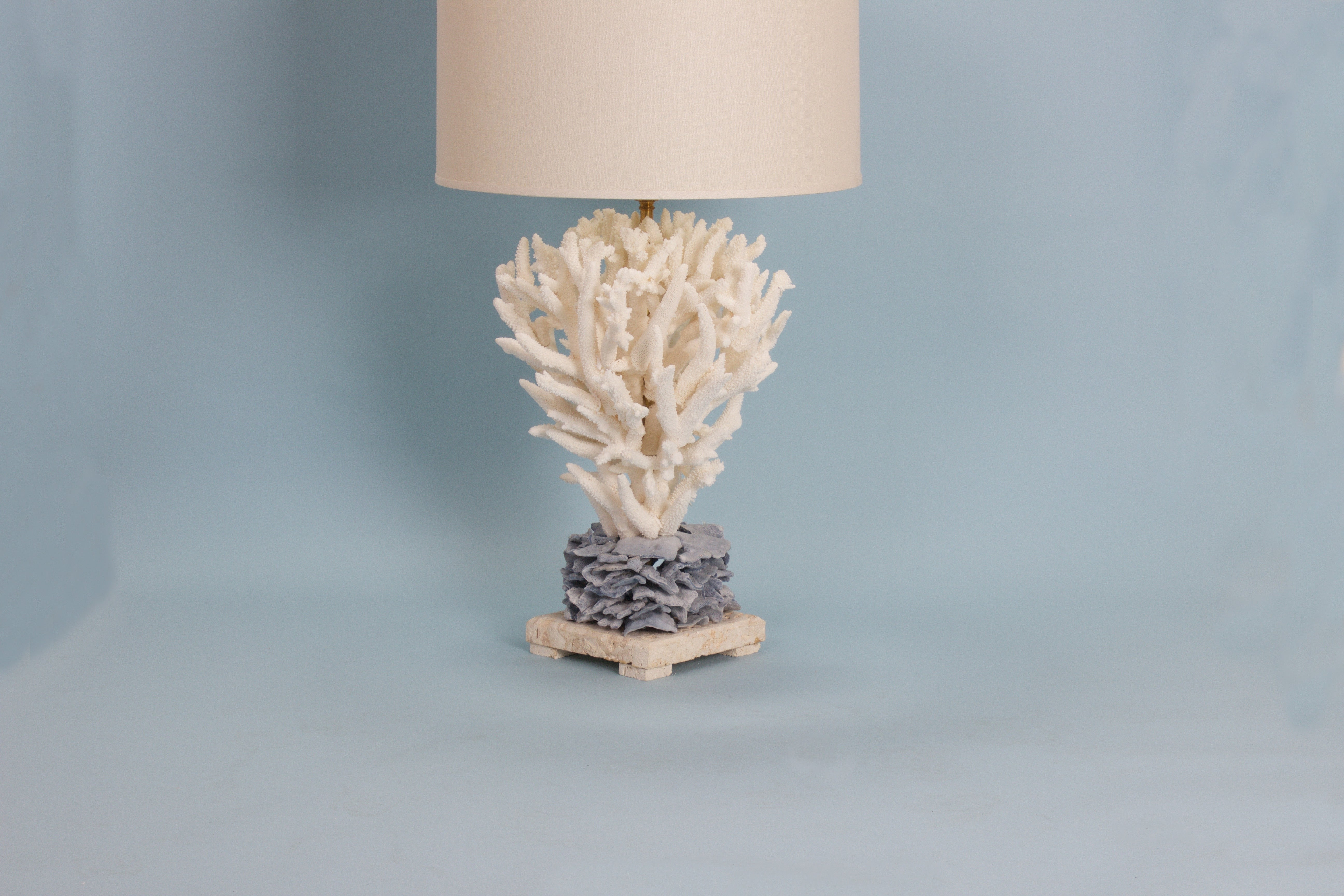 Chic Staghorn And Blue Coral Table Lamp For Sale At 1stdibs
