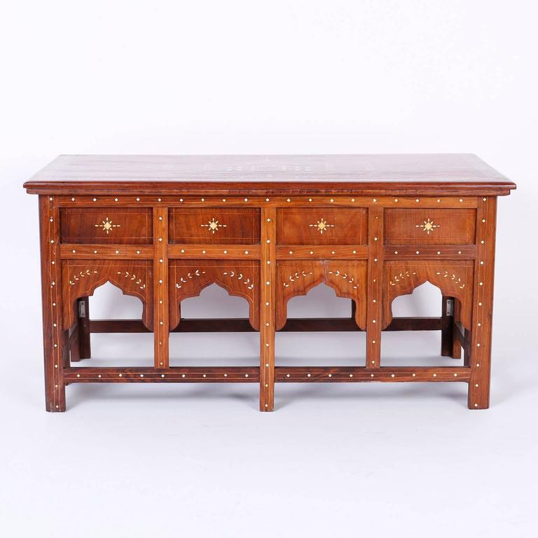Antique Anglo Indian Mahogany Coffee Table At 1stdibs