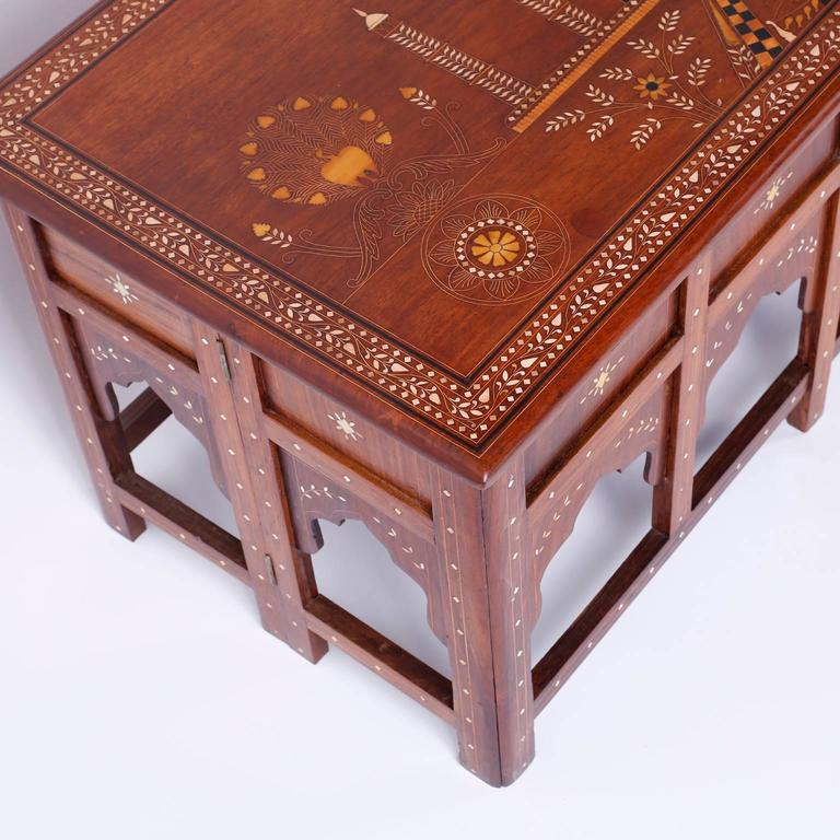 20th Century Antique Anglo Indian Mahogany Coffee Table For