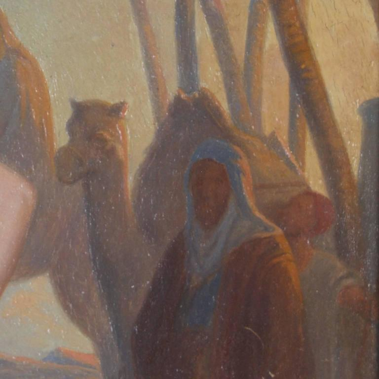 Illuminating 19th Century Oil on Board Orientalist Painting For Sale 1