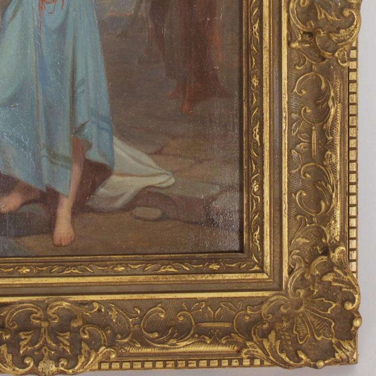 Illuminating 19th Century Oil on Board Orientalist Painting For Sale 2