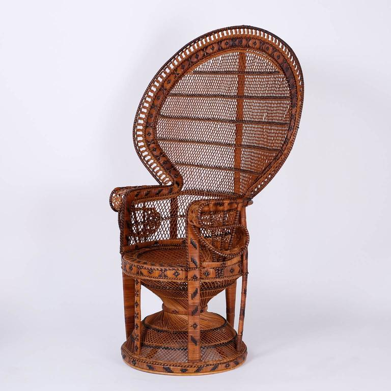 Pair Of Mid Century Asian Peacock Chairs At 1stdibs