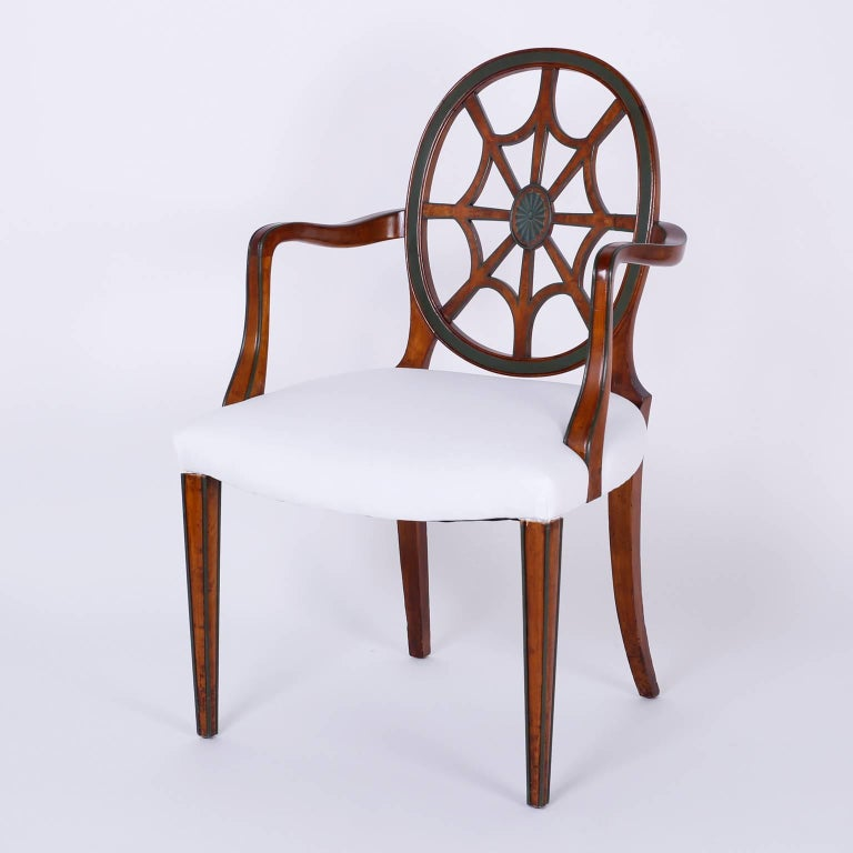 Furniture Web: Set Of 12 Mahogany Spider Back Dining Chairs For Sale At