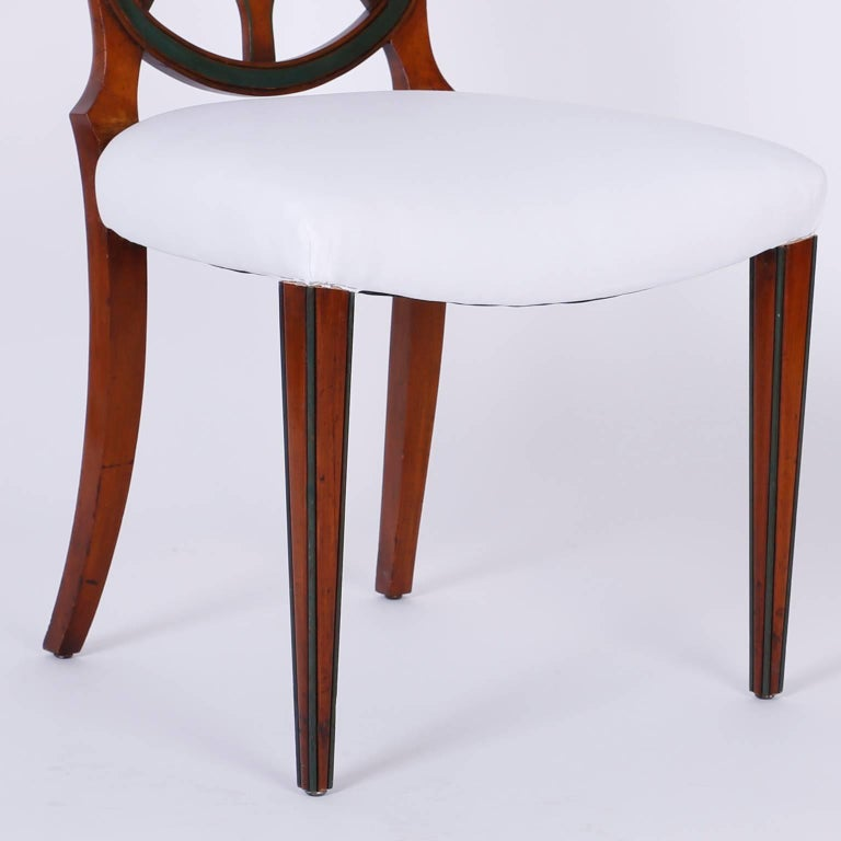 Set of 12 Mahogany Spider Back Dining Chairs For Sale 3