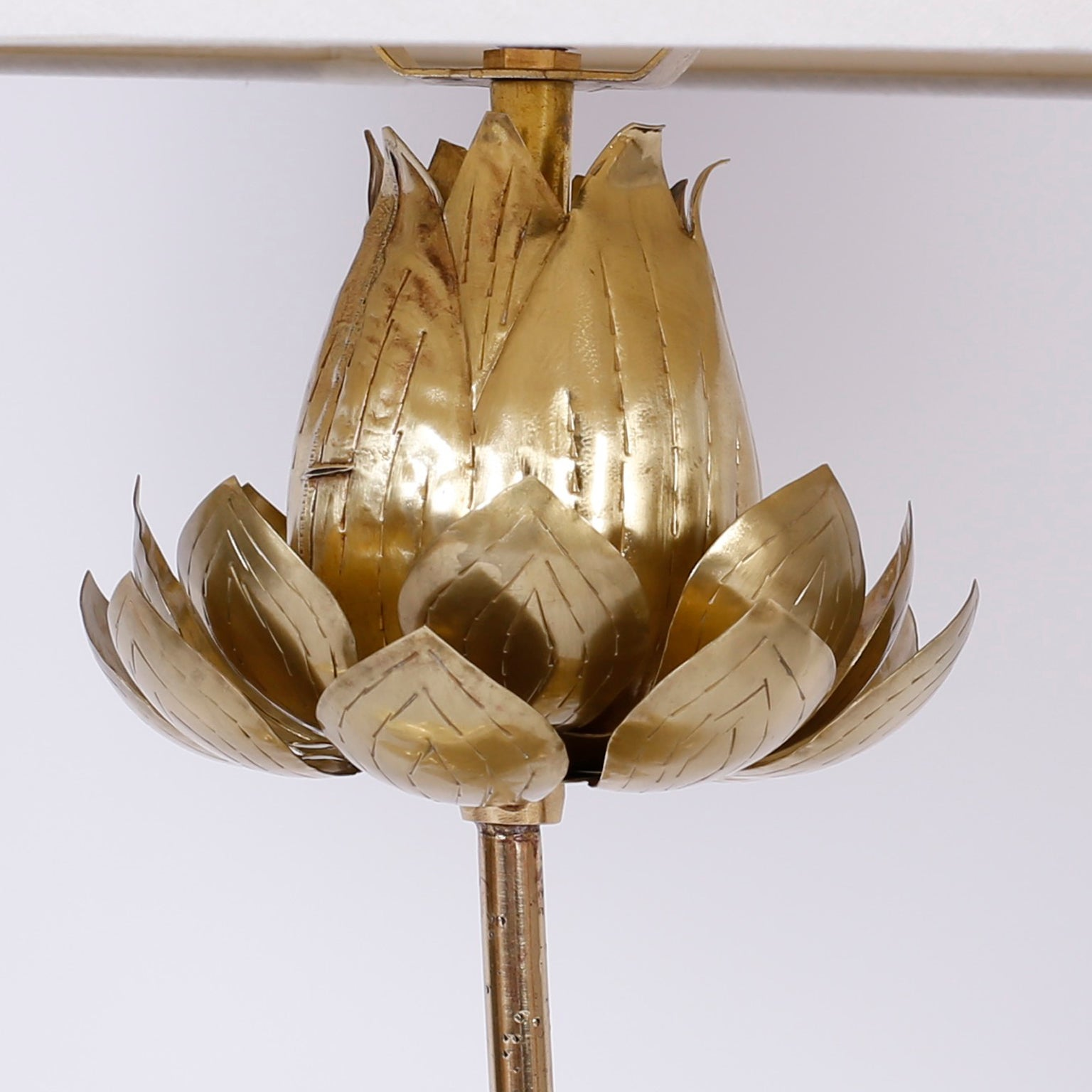 Tropical brass lotus flower table lamp for sale at 1stdibs aloadofball Gallery
