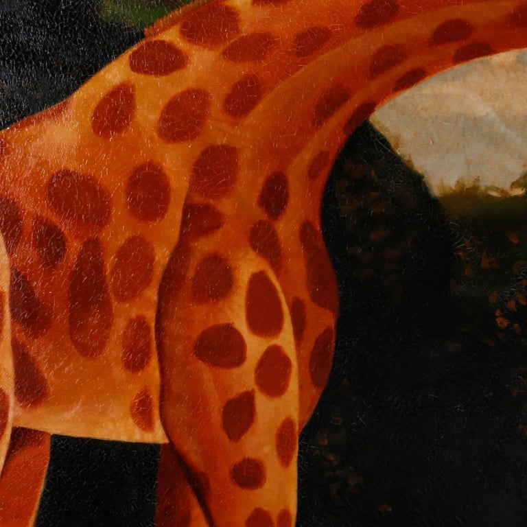 20th Century Oil Painting on Canvas of a Giraffe by Reginald Baxter For Sale