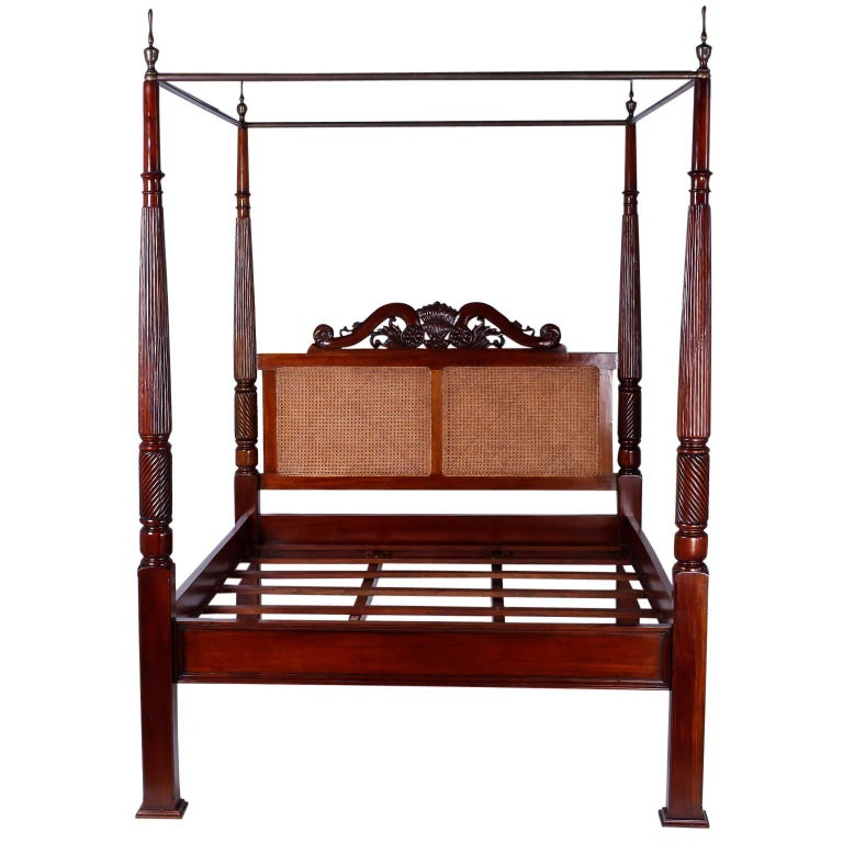 British Colonial West Indies Queen Size Canopy Bed For Sale At 1stdibs