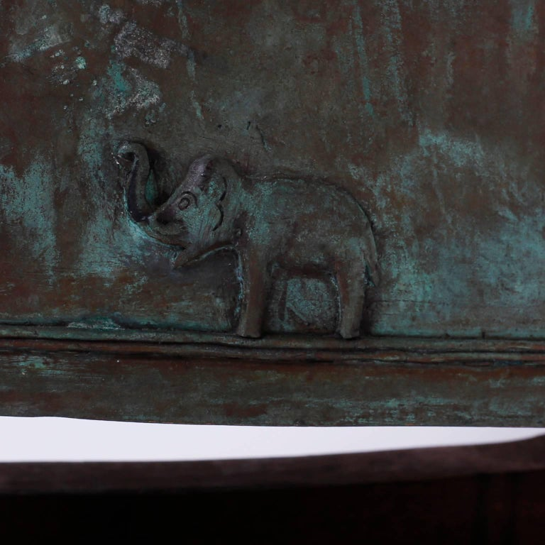 Indian Bronze Elephant Bell In Good Condition For Sale In Palm Beach, FL
