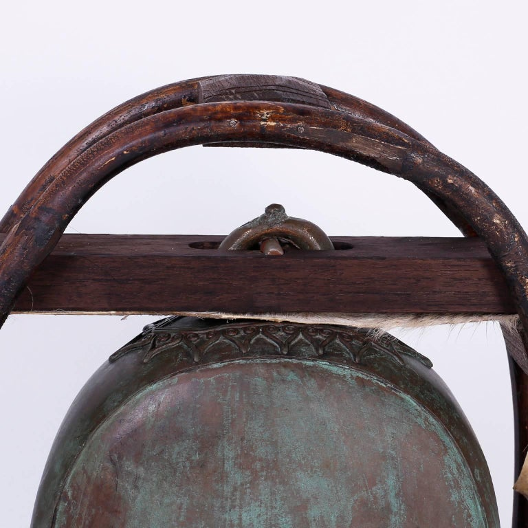 Campaign Indian Bronze Elephant Bell For Sale