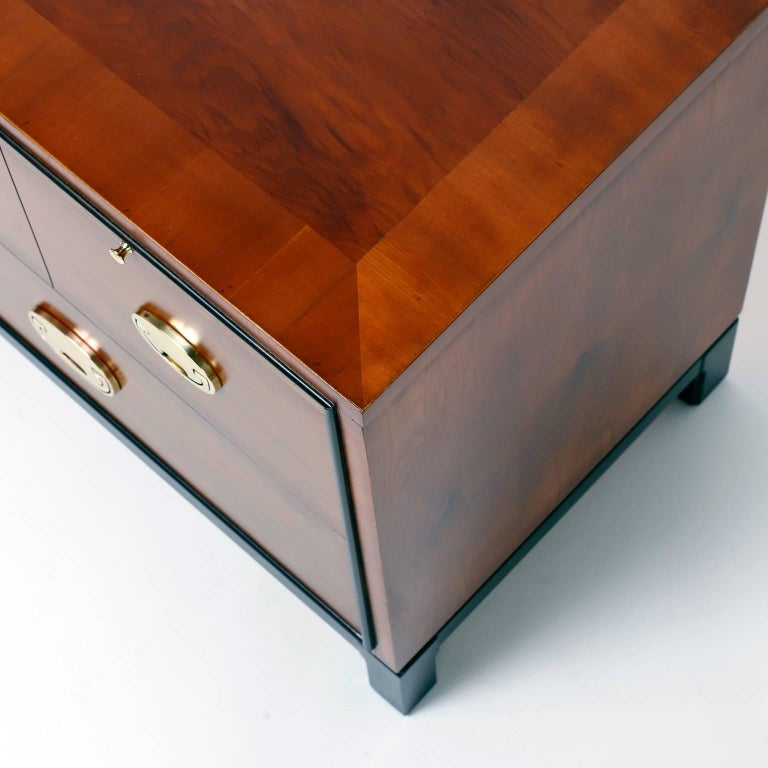 20th Century Pair of Midcentury Asian Modern Nightstands For Sale