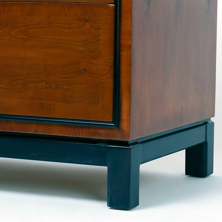 Pair of Midcentury Asian Modern Nightstands For Sale 1
