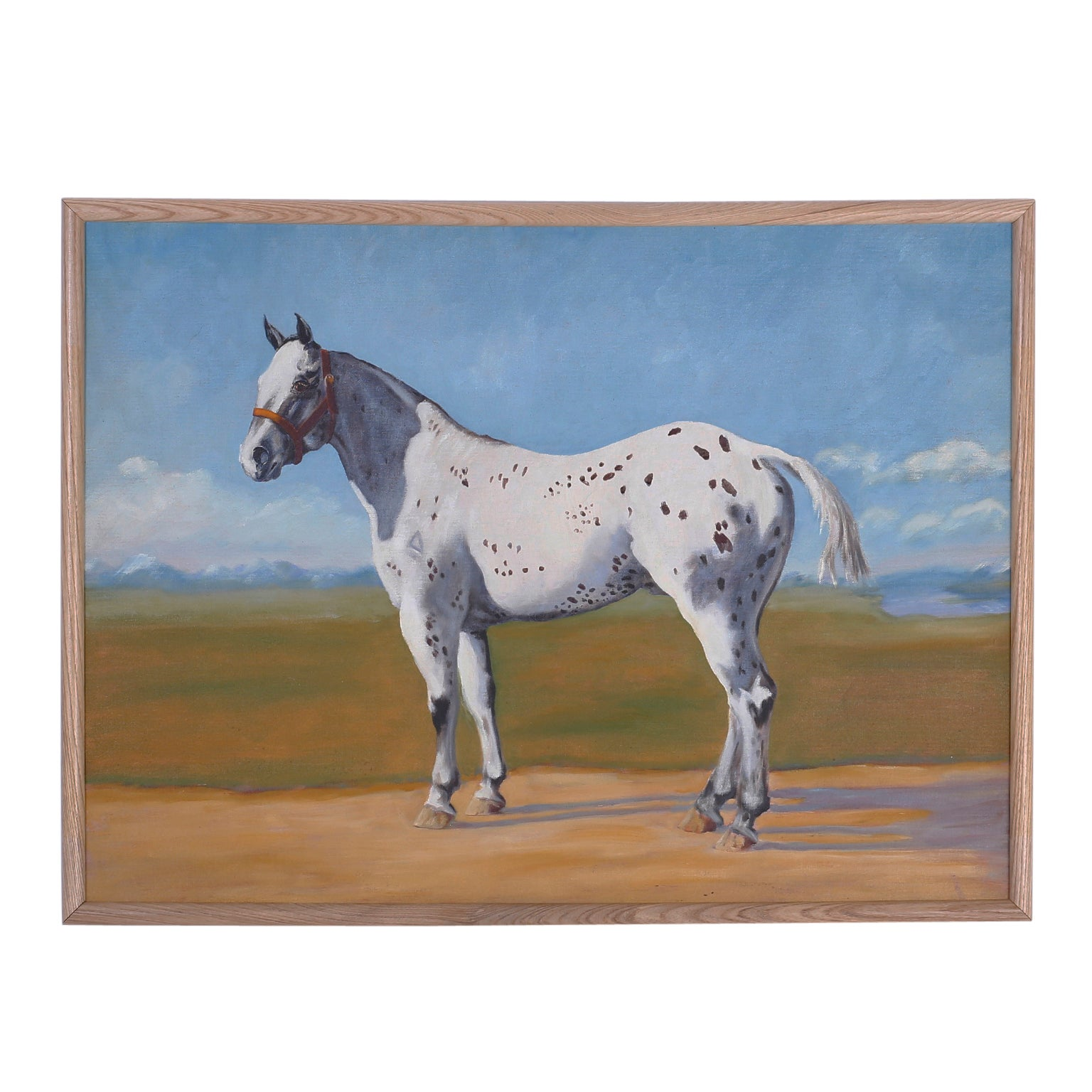 Oil Painting of a Horse on Board