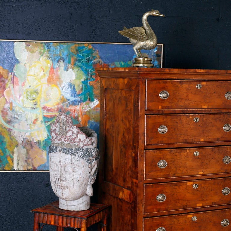 Antique English Tall Chest of Drawers For Sale 5