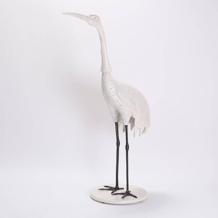 20th Century Pair of Mid Century Crane Sculptures  For Sale