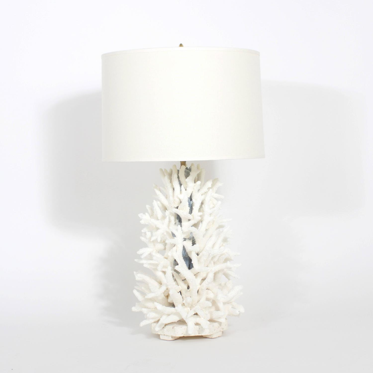 Pair Of Staghorn And Blue Coral Lamps For Sale At 1stdibs