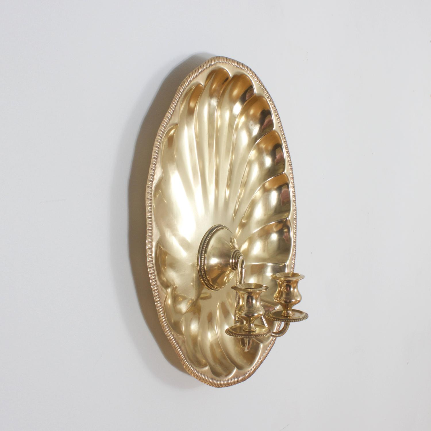 Brass Shell Wall Lights : Brass Shell Sconces For Sale at 1stdibs