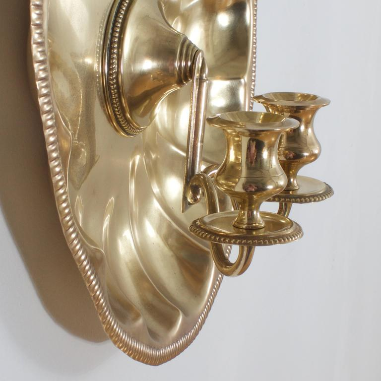 Brass Shell Wall Lights : Brass Shell Sconces at 1stdibs