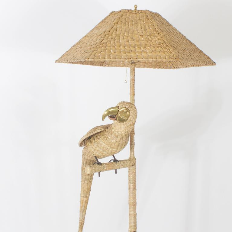 Mexican Mario Torres Parrot Floor Lamp For Sale