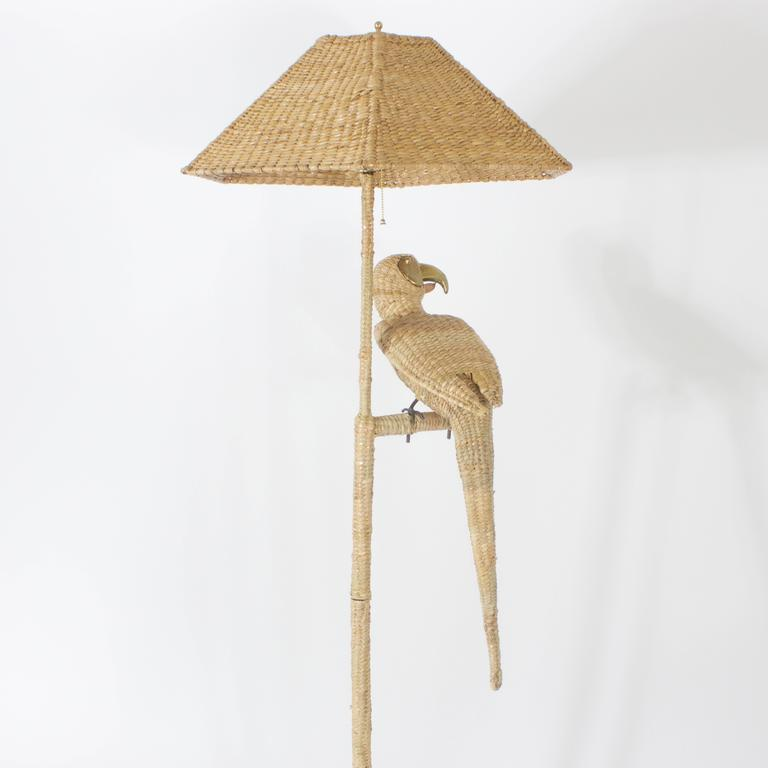 Mario Torres Parrot Floor Lamp In Excellent Condition For Sale In Palm Beach, FL