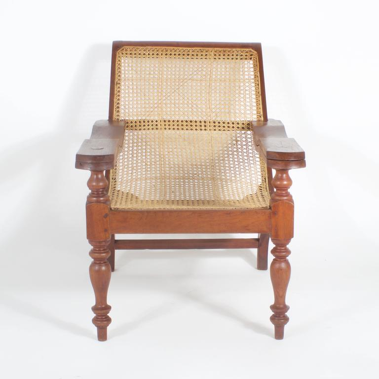 Antique Mahogany Caned Plantation Chair 2 - Antique Mahogany Caned Plantation Chair At 1stdibs