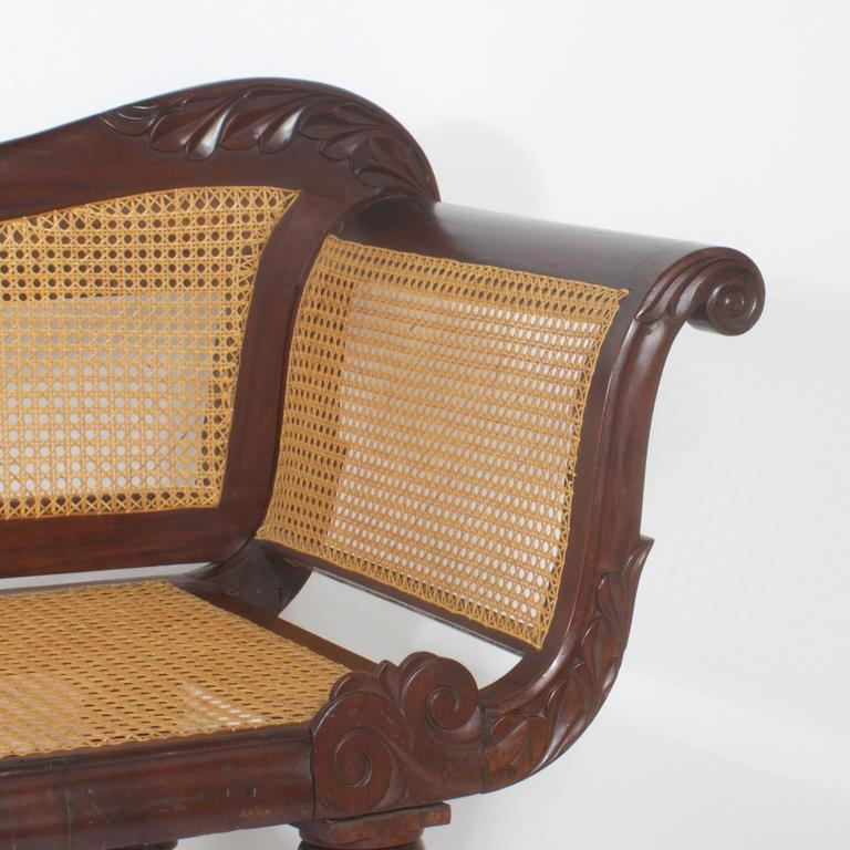 West Indies Caned Chaise Lounge Or Longue Pair A