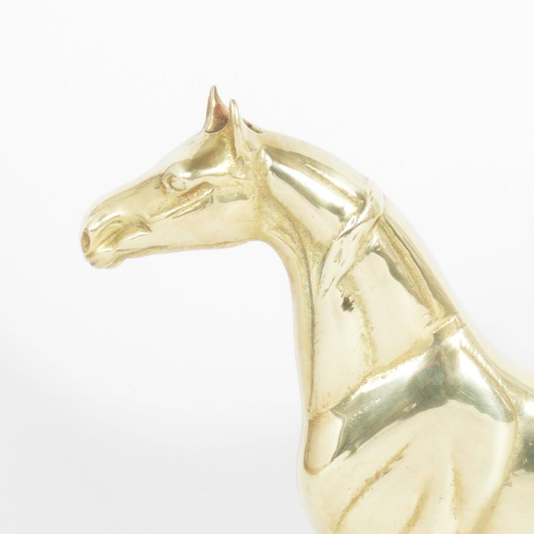 Brass Horse Door Stop For Sale At 1stdibs