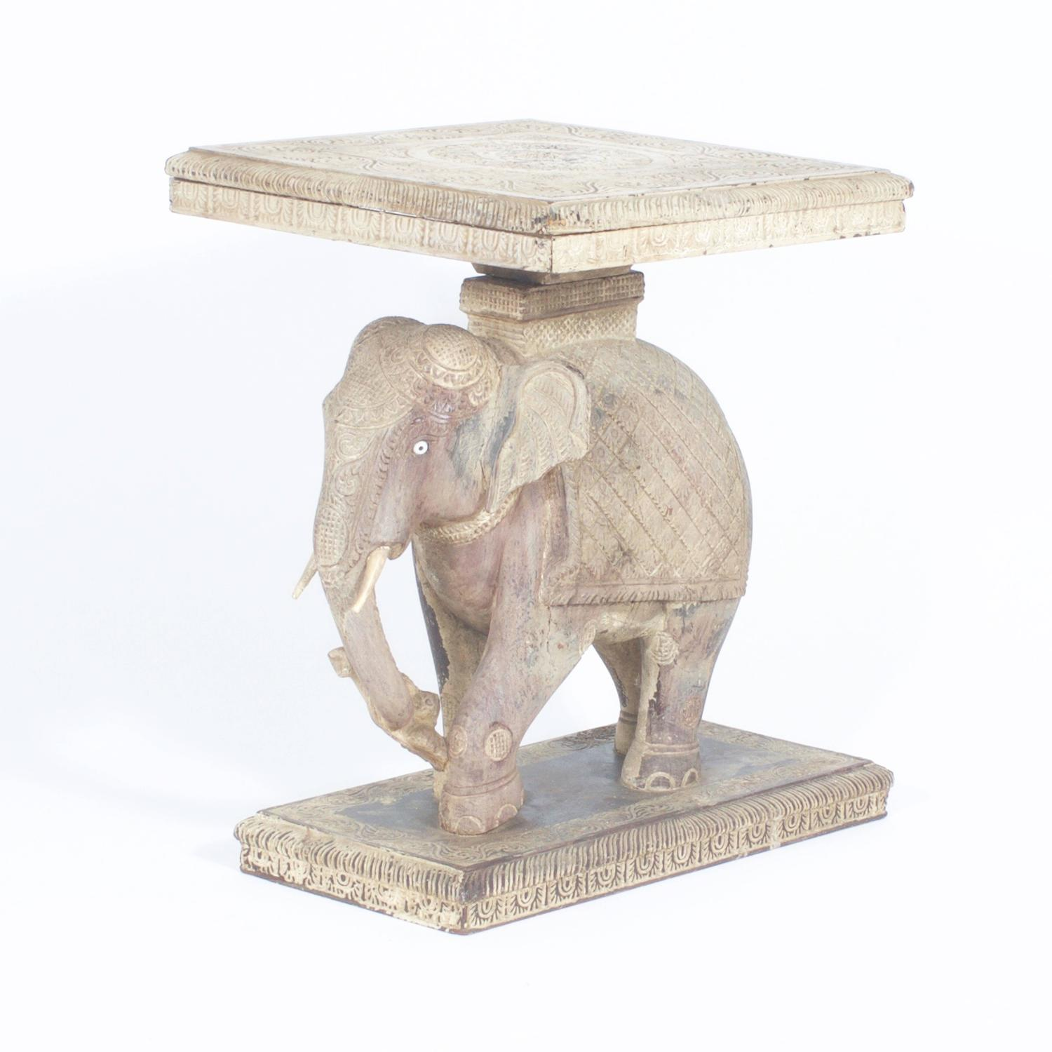 Rustic anglo indian elephant table for sale at 1stdibs Elephant coffee table