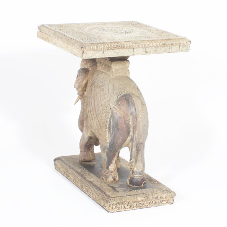 Rustic anglo indian elephant table at 1stdibs Elephant coffee table