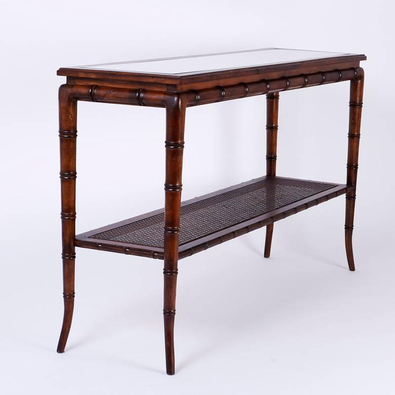 Mid Century British Colonial Sofa Style Table At 1stdibs