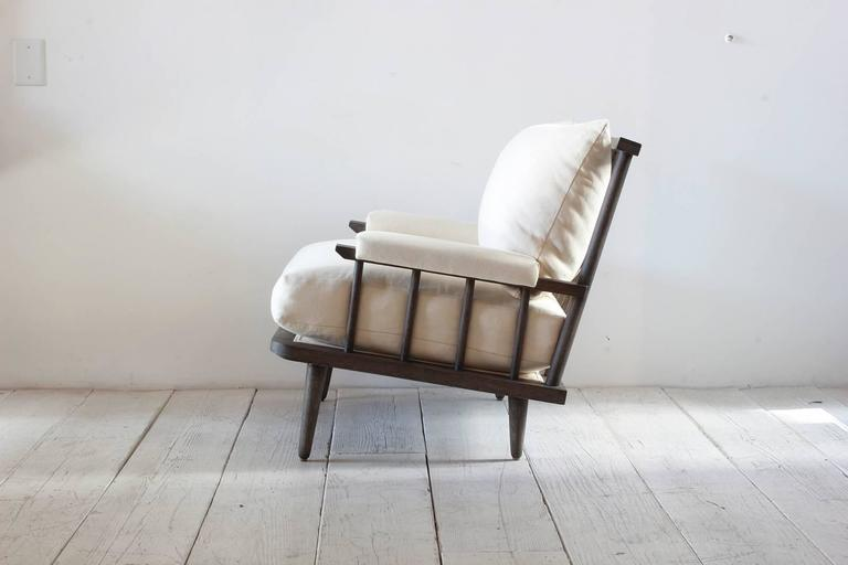 NK Collection Spindle Back Viewing Armchair In Excellent Condition For Sale In Los Angeles, CA