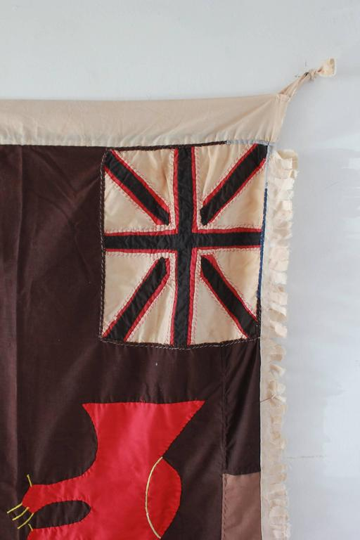 Fante flags represent the merger of two cultural traditions, the Akan tradition of combining proverbs with visual imagery, and the European heraldic tradition, which used flags and banners displaying royal arms in regimental colors.