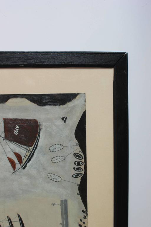 "Black Framed Naval Drawing by ""Old Jack"" 4"