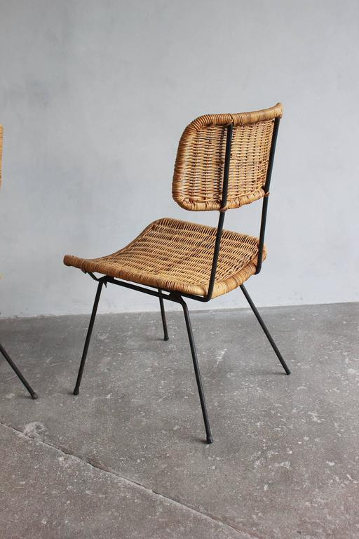 Rattan and Iron Side Chair 5