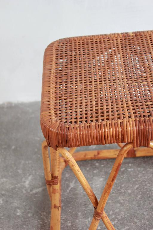 Pair of Square Wicker Nesting Tables For Sale 3